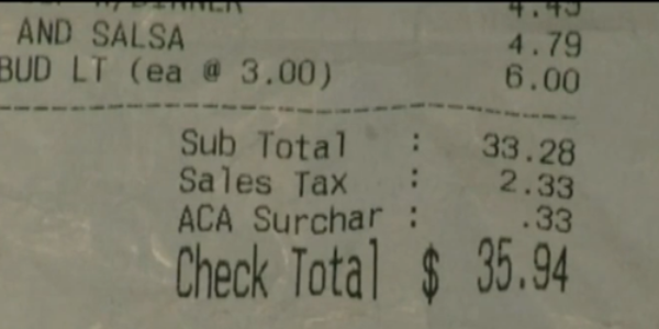 Gator's Dockside ACA Surcharge